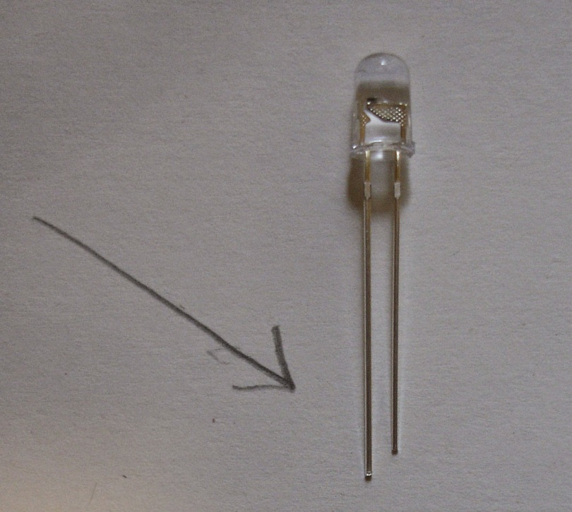 LED lights have two prongs, a positive (the long one) and a negative (the short one).